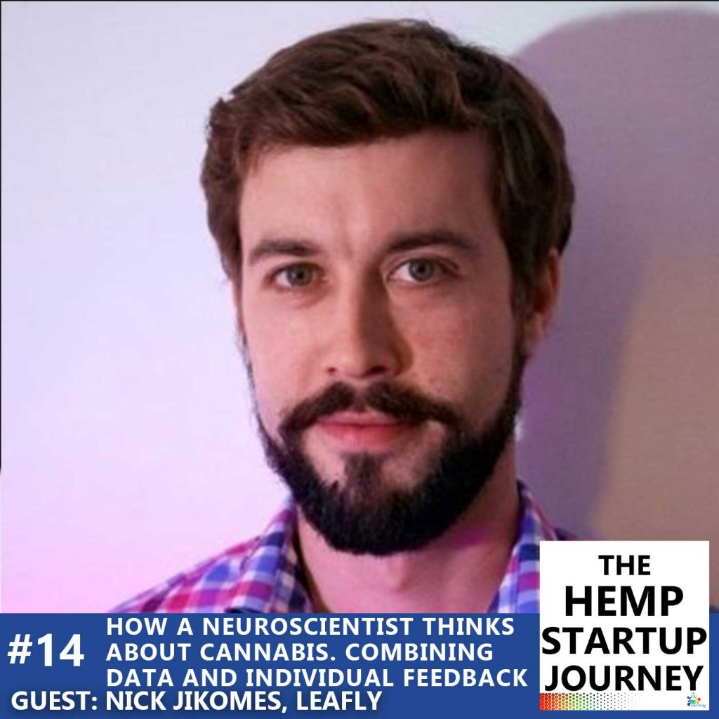 Nick Jikomes, Leafly Director of Science and Innovation on The Hemp Startup Journey Podcast